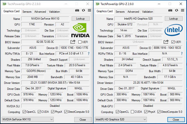 Laptop Asus Vivobook di tes dengan GPU-Z. sumber: GPU-Z