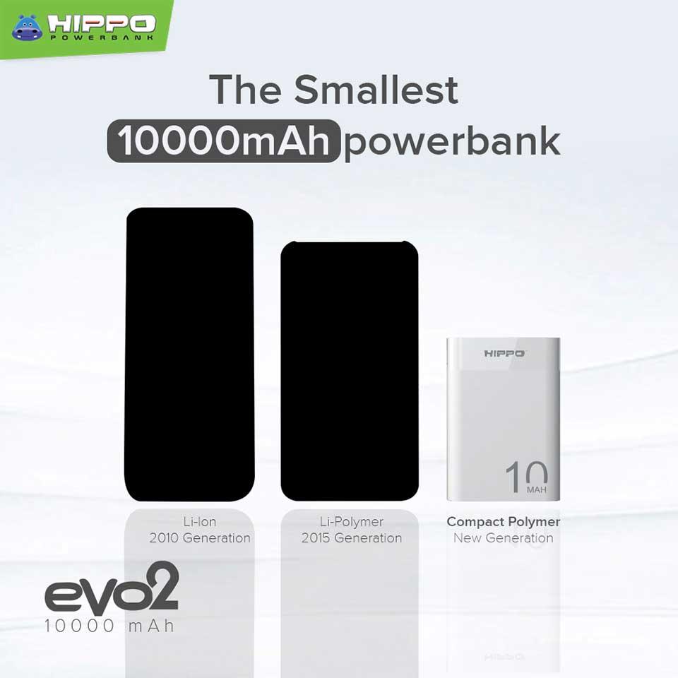 Powerbank Murah dan Mini-Hippo Evo2 Compact